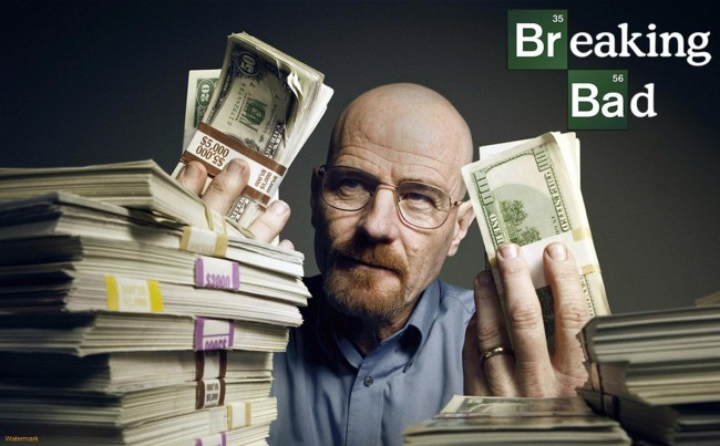 Photo Credit: http://guardianlv.com/wp-content/uploads/2013/09/Breaking-Bad-Walter-White-Cash-1-650x403.jpeg